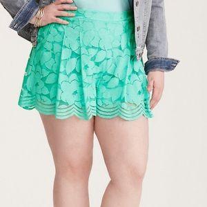 Torrid Flowy Lace Shorts